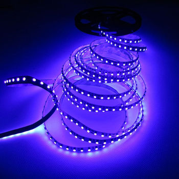 5M 16.4 ft UV Ultravioleta de la tira del led 395nm 3528 SMD color Púrpura 600 LED Luz Tira flexible No Warterproof 12V