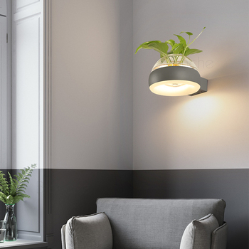 Creativo de la Planta de lámpara de Pared, Lámpara de 12W LED de Cristal Maceta de Pared lámparas de la Sala Restaurante de la Escalera del Pasillo de la Lámpara de Pared Decoración del Hogar