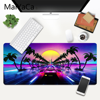 MaiYaCa de Neón Retrowave synthwave arte digital Mouse Pad XXL Cojín de Ratón del ordenador Portátil de Escritorio Mat pc gamer completo de lol/world of warcraft